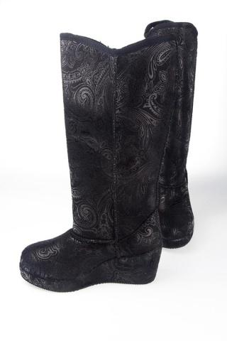 Сапоги зимние женские Milton ZC-2468 чёрный