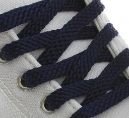 Шнурки с плоским сечением 8мм*90см синий