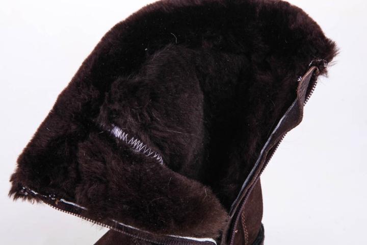 Сапоги зимние детские Мирунт ПД8 коричневый
