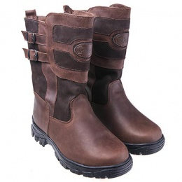 Унты-монголки мужские короткие Мирунт ЛМ315 коричневый