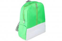 Рюкзак детский с полосатой лямкой зелёный