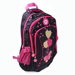 Рюкзак Ритм 2635 чёрно-розовый