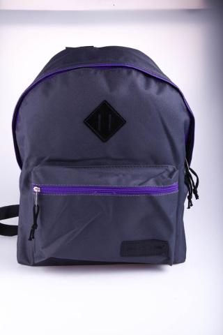 Рюкзак 2383495 серо-фиолетовый