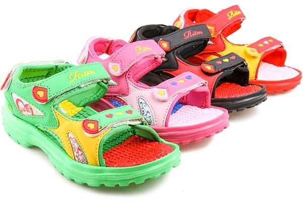 471c7c9f4 Сандалии пляжные детские Ритм A077-6 для девочек
